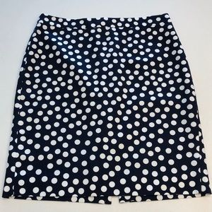 J. Crew Polka Dot Pencil Skirt